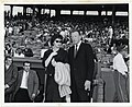 Actor Dan Dailey with an unidentified woman at the Mayor's Field Day at Fenway Park (12306715793).jpg
