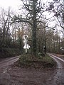 Acute junction at Road Down Cross - geograph.org.uk - 1603115.jpg