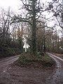 Acute junction at Road Down Cross - geograph.org.uk - 1603115.jpg
