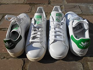 hot sale online 26809 e84bb Adidas Stan Smith Vintage à gauche et Adidas Stan Smith version 2015 à  droite.