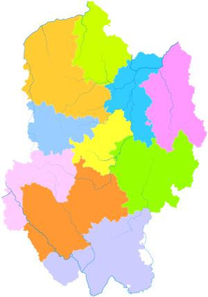 Chuxiong Yi Autonomous Prefecture - Image: Administrative Division Chuxiong