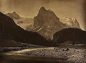 Adolphe Braun - Wellhorn and the Rosenlaui Glacier, photographed by Braun circa 1860