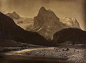 Adolphe Braun - Wellhorn and the Rosenlaui Glacier, photographed by Braun circa 1860
