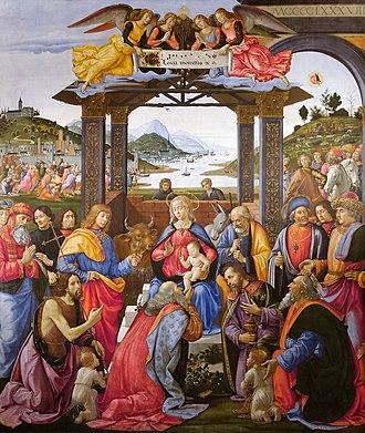 Adoration of the Magi (Ospedale degli Innocenti) - Image: Adoration of the Magi Spedale degli Innocenti