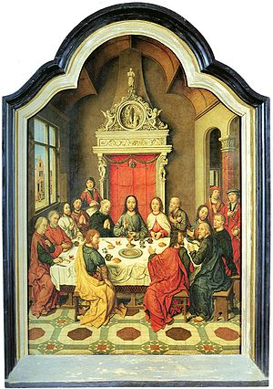 Altarpiece of the Holy Sacrament - Image: Aelbrecht Bouts Last Supper