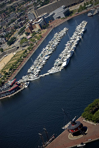 Inner Harbor - View of Inner Harbor Marina and Lighthouse