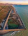 Aerial photo of the coast of the Maremma natural park.jpg