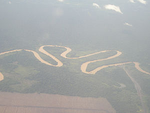 Kapuas River (Barito River) - Image: Aerial view of Kapuas River