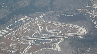 Pocono Raceway - An aerial view of Pocono Raceway taken from a passing jetliner in late March 2014