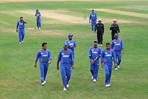 Cricket in Afghanistan - The Afghanistan national cricket team at the 2010 ICC WCL Division One in Rotterdam, Netherlands