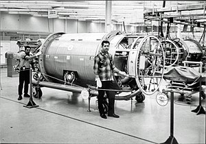 RM-81 Agena - Agena spacecraft production line at Lockheed