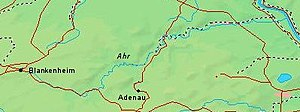 Ahr - Map of the Ahr