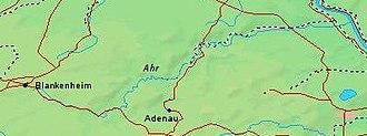 Der Flußlauf der Ahr von der Quelle bei Blankenheim bis zum Rhein