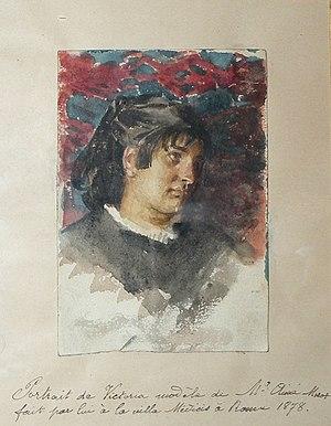 Aimé Morot - Image: Aimé Nicolas Morot, 1878 Portrait of Victoria made at Villa Medicis, Rome, Italy