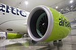 AirBaltic Bombardier CS300 mainenance (33221396565).jpg