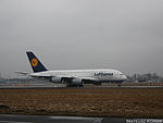 Airbus A380 Taxi Warsaw (5867416940) (3).jpg