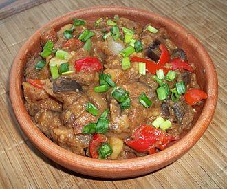 Ajapsandali - Image: Ajapsandali Georgian eggplant stew