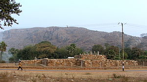 Ajatashatru - Ajatashatru's stupa in Rajgir, where his ashes were supposedly interred
