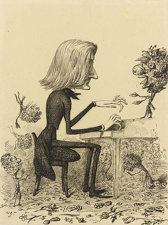 1845 in music - 1845 caricature of Franz Liszt