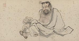 Zhongli Quan - Zhang Lu's painting of Zhongli Quan, early 16th century