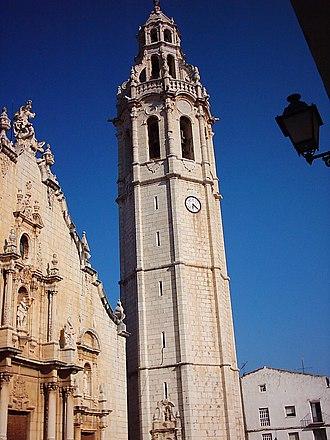 Alcalà de Xivert - The bell-tower of the main church at Alcalà de Xivert.