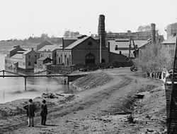 Alexander Gardner - 1865 - Tredegar (Detail of iron works).jpg