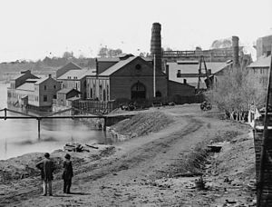 Virginia in the American Civil War - Tredegar Iron Works, Richmond, Virginia, April 1865