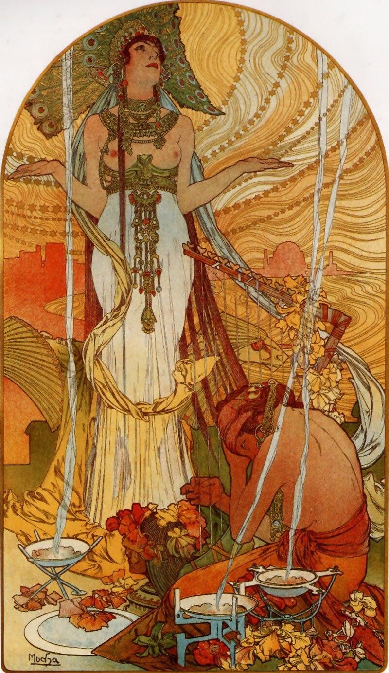 Salammbô by Alphonse Mucha (1896)