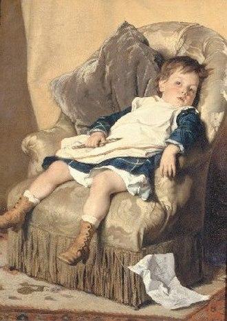 Little Girl in a Blue Armchair - Image: Alfred Cluysenaar Een Roeping KMSKB 2647
