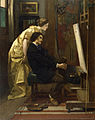 Alfred Stevens - The Painter and His Model - Walters 37322.jpg
