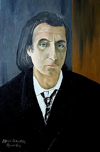 Alfred Schnittke - Portrait of Alfred Schnittke by Reginald Gray (1972)