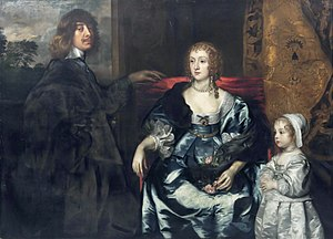 Algernon Percy, 10th Earl of Northumberland - Algernon Percy and his first wife Anne Cecil (d.1637), and their daughter, Catherine Percy (1630-1638)