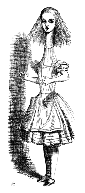 The Almost People - Jennifer's monster was inspired by this drawing from Alice's Adventures in Wonderland.