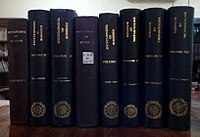 All volumes of Encyclopaedia of Buddhism.jpg