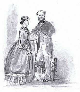 Allen Bathurst, 6th Earl Bathurst - Lord Bathurst and his first wife, Meriel (1839-1872).