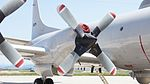Allison T56-A-14 turboprop engine of JMSDF P-3C(5019) right wing at JASDF Miho Air Base May 28, 2017 07.jpg