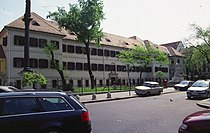 Along Rákóczi út. Saint Roch Hospital in Budapest2.jpg