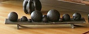 Battle of Alvøen - Cannon balls from the battle, picked up on the shore just outside Alvøen