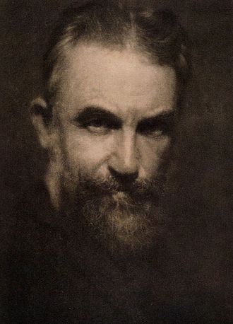 "Alvin Langdon Coburn - ""Bernard Shaw"", by Alvin Langdon Coburn. Photogravure published in Camera Work, No 21, 1908"