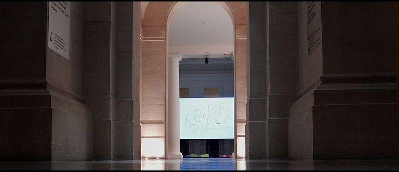 File:Ambiance monumentale entrée Hall-Atrium en soirée Palais des Beaux-Arts de Lille Octobre 2016 WikiMuseum 2.jpg