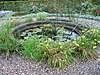 Waterbassin in het zuidelijke parkdeel