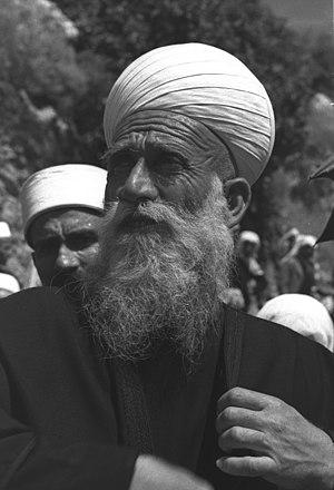 Israelis - Sheikh Amin Tarif, spiritual leader of the Israeli Druze, c. 1950