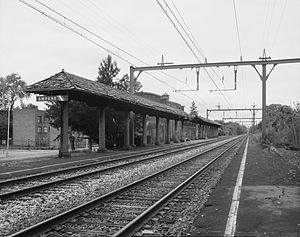 Ampere station - A view of the Ampere station before its closing, by the Historic American Engineering Record