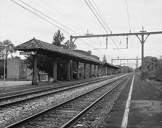 National Register of Historic Places listings in Essex County, New Jersey - Image: Ampere Station station view