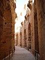 Amphitheatre of El Jem-walking through.jpg