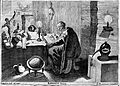 An alchemist at his table, reading a book containing an imag Wellcome L0004339.jpg