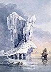 An iceberg, the HMS Terror and some walrus near the entrance of Hudson Strait Un iceberg, le NSM Terror et quelques morses près de l'entrée du détroit d'Hudson (48188889486).jpg