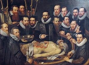 Pieter van Mierevelt - Anatomy lesson of Dr. Willem van der Meer, 1617