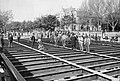 Andrássy út, a Millenniumi földalatti Dózsa György (Aréna) úti állomásának építése, 1895. Fortepan 19523.jpg