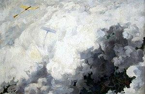 André Devambez - Le seul oiseau qui vole au dessus des nuages